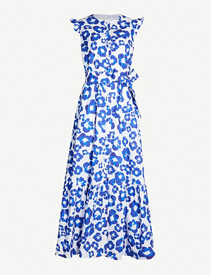 BORGO DE NOR Gabriella floral-print flared-sleeve cotton dress