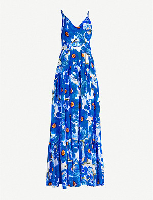 BORGO DE NOR Gazella floral-print silk-crepe dress