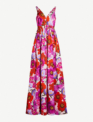 BORGO DE NOR Isabella floral-print cotton-blend maxi dress