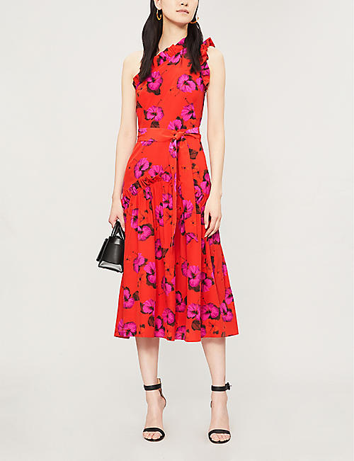 BORGO DE NOR Layla floral-print silk midi dress