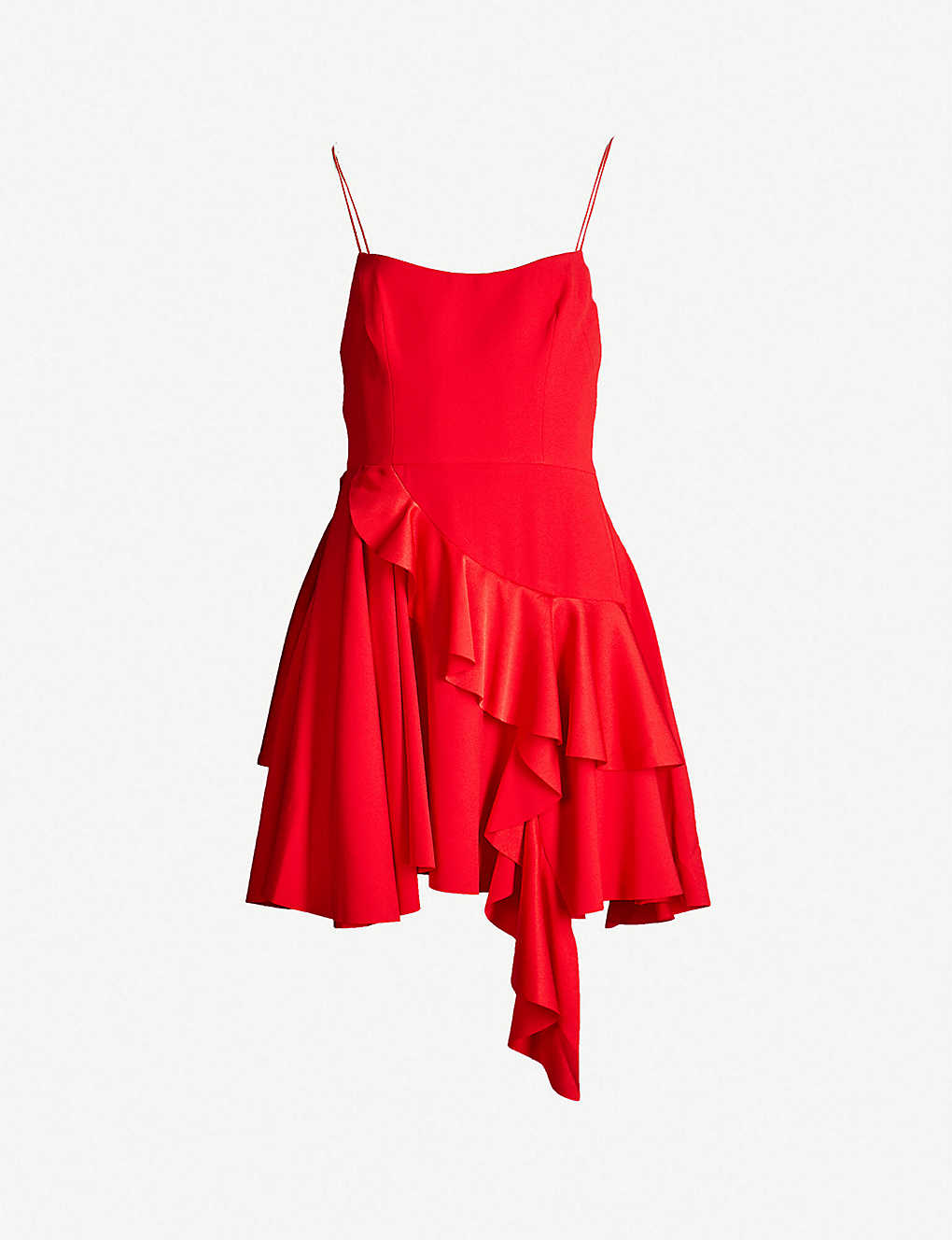 ALEX PERRY - Corin ruffled crepe mini dress   Selfridges com
