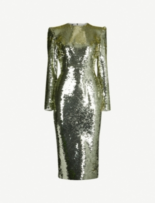 ALEX PERRY Elisa sequinned midi dress
