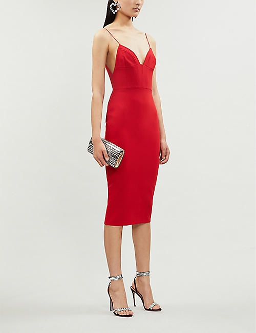 ALEX PERRY Mercer stretch-ponté bodycon midi dress