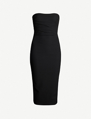 ALEX PERRY Dylan strapless crepe midi dress