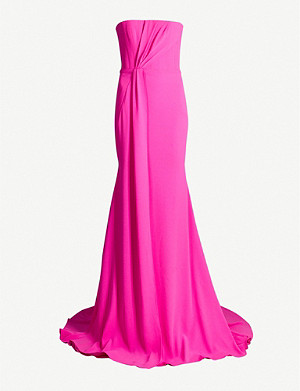 ALEX PERRY Strapless crepe gown