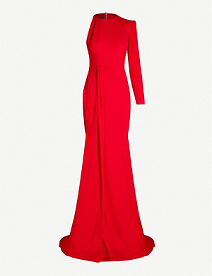 ALEX PERRY Julian one-shoulder crepe gown