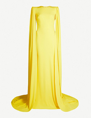 ALEX PERRY Alex fitted crepe maxi shift dress