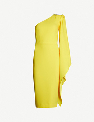 ALEX PERRY Finley one-shoulder crepe midi dress