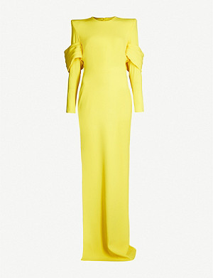 ALEX PERRY Hudson fitted crepe maxi dress