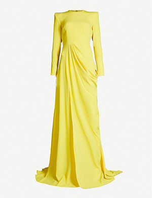 ALEX PERRY Knox draped crepe gown