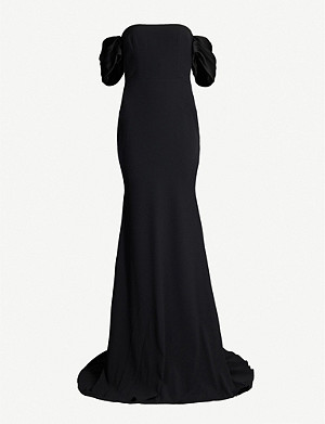 ALEX PERRY Linden off-the-shoulder crepe charmeuse gown