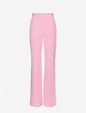 ALEX PERRY Leighton high-rise wide-leg crepe trousers