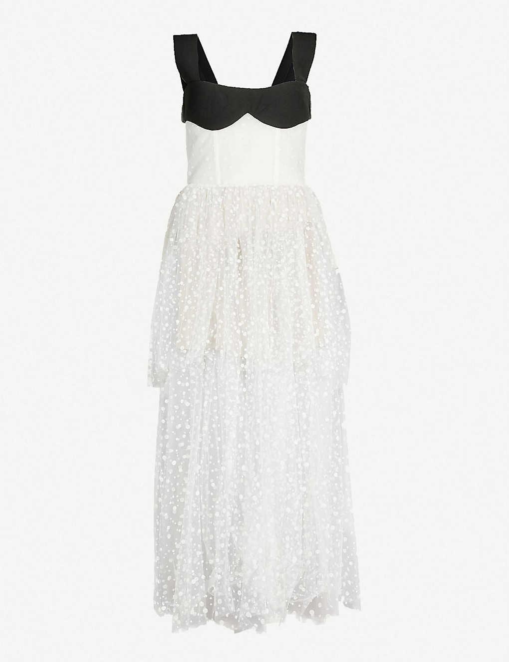 3d37385a1 RASARIO - Polka dot corseted tulle gown | Selfridges.com