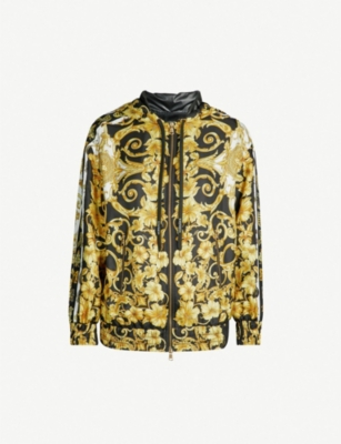 VERSACE Baroque-print silk jacket