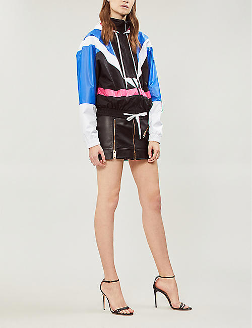 VERSACE Colour-blocked shell jacket