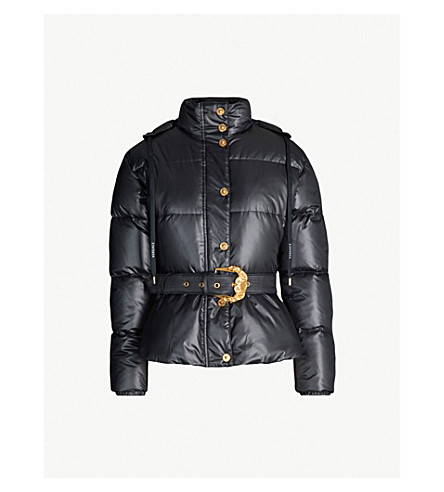 aea271186 Belted padded shell-down jacket