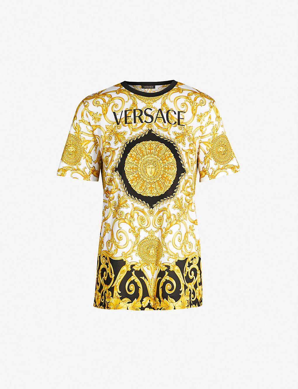 d2be6ce6c VERSACE - Logo-print cotton-jersey T-shirt | Selfridges.com