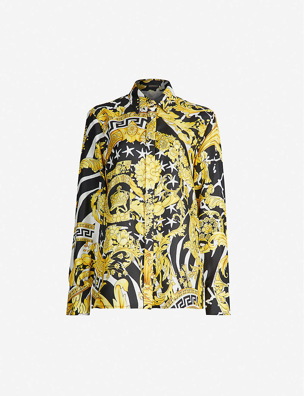 0b86dedc9d246f VERSACE - Baroque-print silk shirt | Selfridges.com