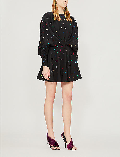 ATTICO Star sequin-embellished crepe mini dress