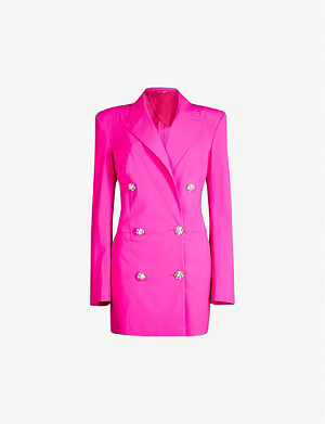 ATTICO Diamanté-embellished stretch-wool jacket