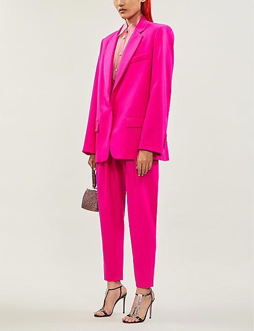 ATTICO Oversized stretch-wool blazer
