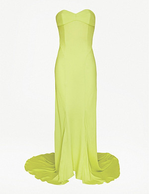 ATTICO Floor-length sleeveless crepe dress