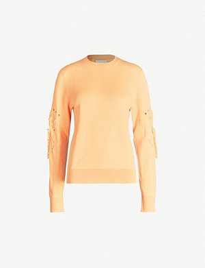 BARRIE Distressed cashmere jumper