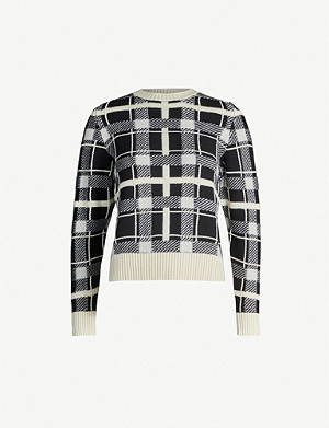 BARRIE Checked cashmere jumper