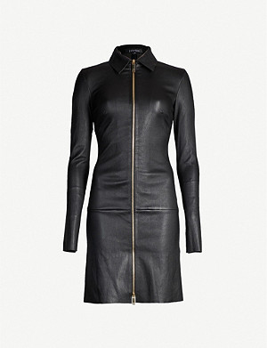 JITROIS Agatha zip-front leather dress