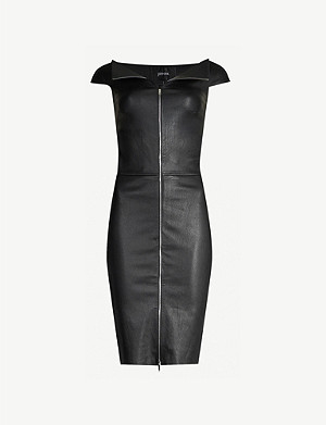 JITROIS Eve zip-front leather mini dress