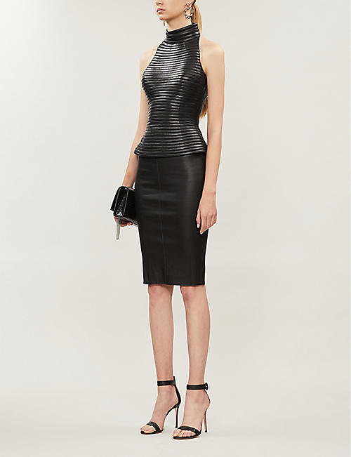 JITROIS Massai ribbed leather top