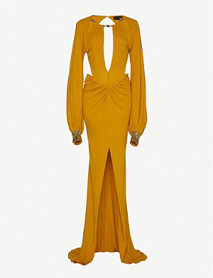 DUNDAS Cutout stretch-jersey gown