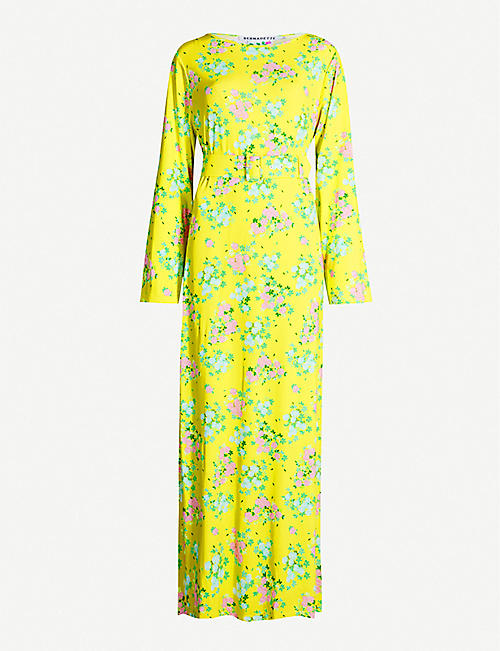 BERNADETTE Monica floral-print stretch-jersey dress