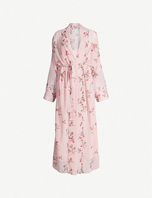 BERNADETTE Peignoir floral-print crepe dress