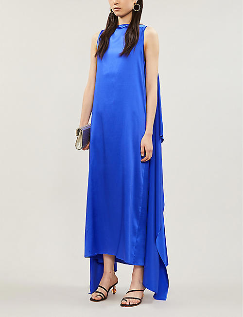 BERNADETTE Judy square-neck silk-blend maxi dress