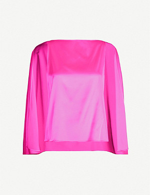 BERNADETTE Judy square-neck silk-blend top