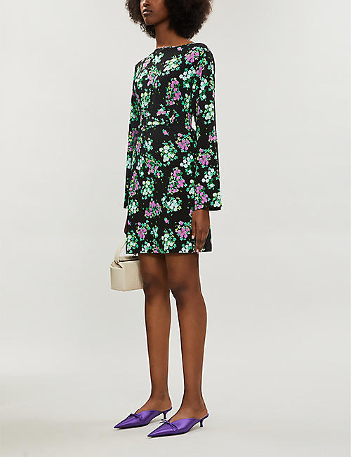 BERNADETTE Monica floral-print stretch-jersey mini dress