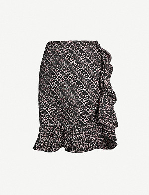 GIAMBATTISTA VALLI Ruffled cotton-blend tweed skirt