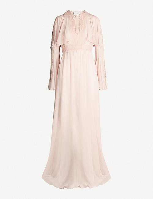 GIAMBATTISTA VALLI Ruffled silk-chiffon maxi dress