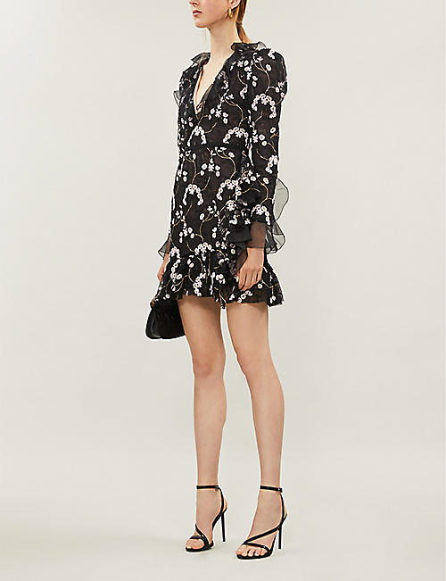 GIAMBATTISTA VALLI Floral embroidered lace dress