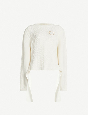 MAGDA BUTRYM Braid City embellished wool and cashmere-blend jumper