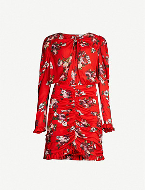 MAGDA BUTRYM Barletta floral-print silk-crepe mini dress