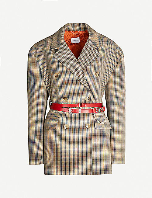 MAGDA BUTRYM Bursa belted checked double-breasted wool blazer