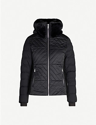 FUSALP: Poudreuse funnel-neck quilted shell jacket