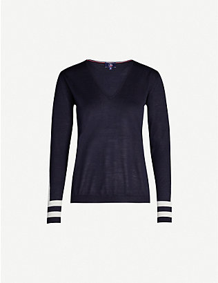 FUSALP: Taysse V-neck knitted jumper