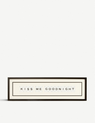 VINTAGE PLAYING CARDS Kiss Me Goodnight playing card frame