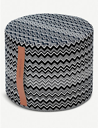 MISSONI HOME: Tobago cotton knitted pouf 30cm