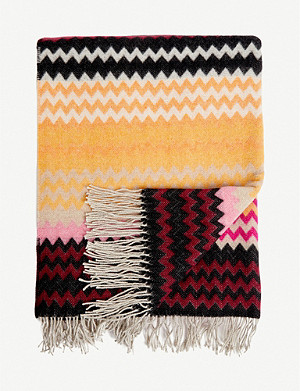 MISSONI HOME Humbert wool-blend throw 190x130cm