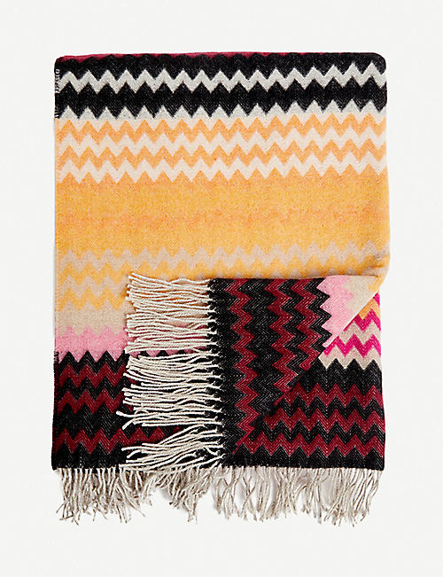 MISSONI HOME: Humbert wool-blend throw 190x130cm