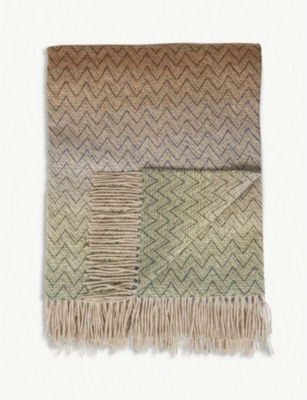 MISSONI HOME Pascal wool-cashmere blend throw 130x190cm